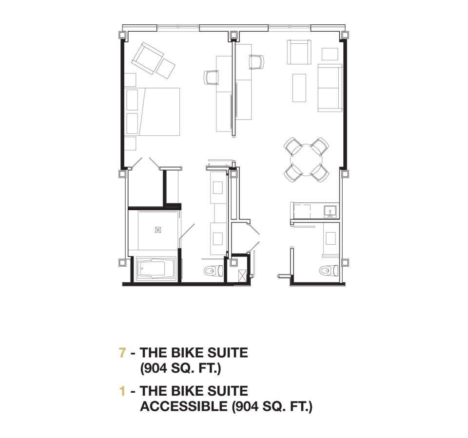 The Bike Suite floor plan