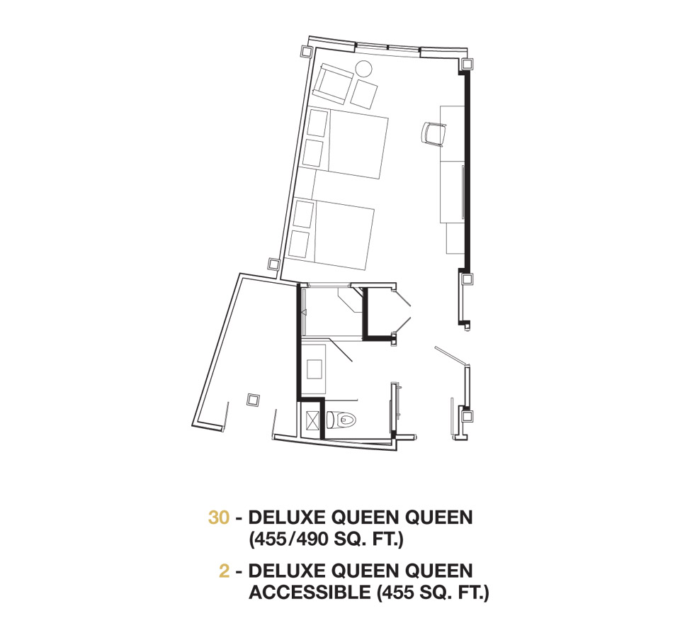 Deluxe Queen Room floor plan